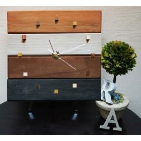 アンティークな木の時計・カルテット(4色仕上げ)