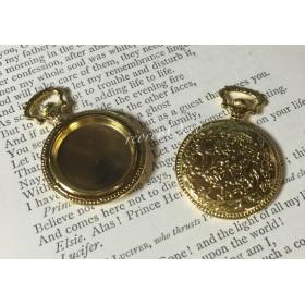 懐中時計のセッティング M ゴールド 2個