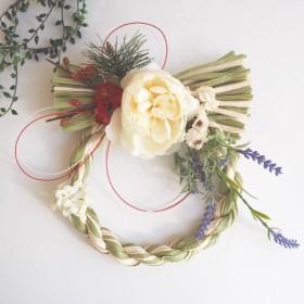 お花のしめ飾り(ナチュラル)
