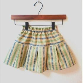 【110】子供スカート(クリーム系クラシックボーダー柄)