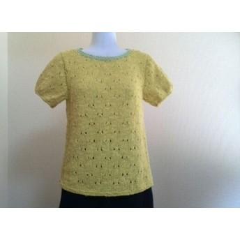 半袖セーター・黄色