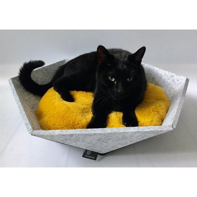 Atomo(薄灰色)猫と犬のモダンベッド ねこ ネコ 北欧 スタイリッシュ