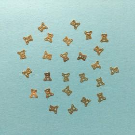 くまのぬいぐるみのメタルパーツ(ゴールド/26枚)