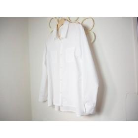 Aラインシャツブラウス100双ブロードホワイト
