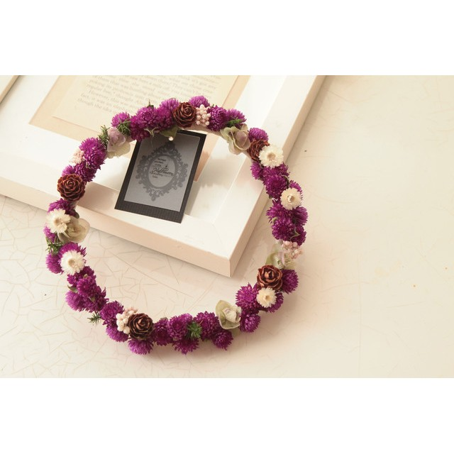 紫の千日紅*ドライフラワーリース