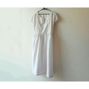 ストライプジャガードのジャンパースカート(ベージュ)