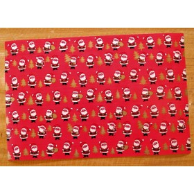 【E】レトロ包装紙 プチサンタ【U.S.A.】DA-WP005