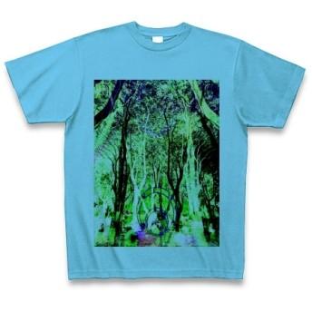 有効的異常症候群幻林◆アート◆文字◆ロゴ◆ヘビーウェイト◆半袖◆Tシャツ◆シーブルー◆各サイズ選択可