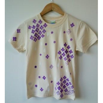 キッズ140☆紫陽花と雨の☆手描きTシャツ☆
