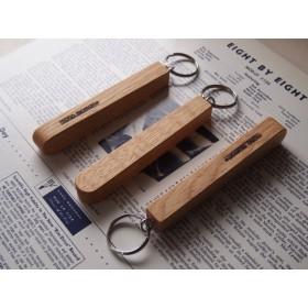 シンプルな木製キーホルダー(ナラ)