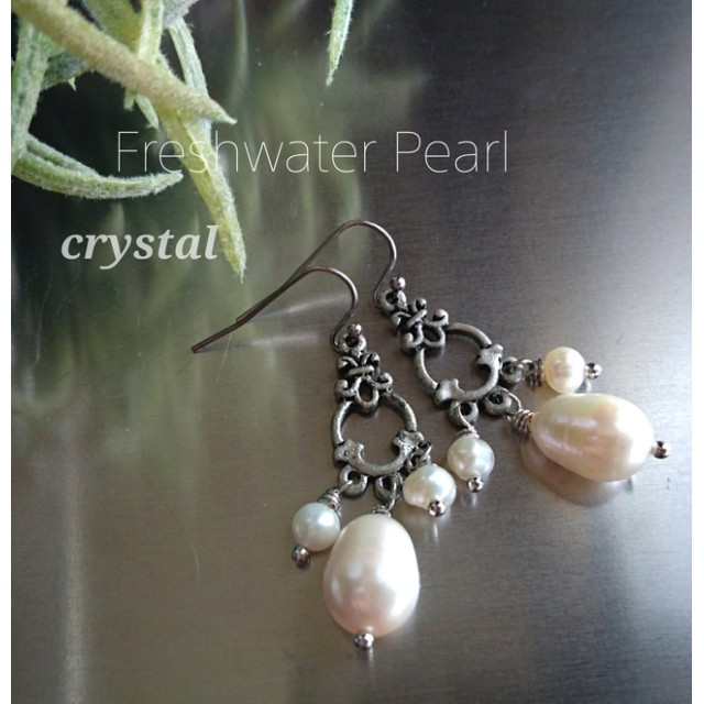 Freshwater Pearl ピアス * 淡水パール