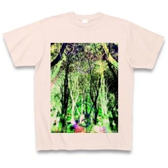 有効的異常症候群幻林◆アート◆文字◆ロゴ◆ヘビーウェイト◆半袖◆Tシャツ◆ライトピンク◆各サイズ選択可