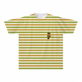 ビーバーのボーダーTシャツ(大人〜子供サイズ)【全面プリント】