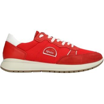 《セール開催中》IGI & CO メンズ スニーカー&テニスシューズ(ローカット) レッド 42 革 / 紡績繊維