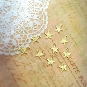 ゴールド 幾何チャームセット 星型 ハンドメイドアクセサリー