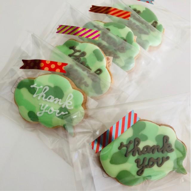 迷彩柄 アイシングクッキー 5袋