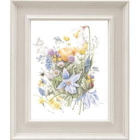 花いっぱいの早春のクレマチスたち アートプリント(複製画)A055