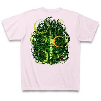 KAGUYAHIME3◆アート文字◆ロゴ◆ヘビーウェイト◆半袖◆Tシャツ◆ピーチ◆各サイズ選択可
