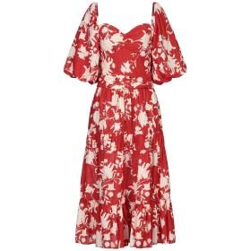 《セール開催中》JOHANNA ORTIZ レディース 7分丈ワンピース・ドレス レッド 4 コットン 100%