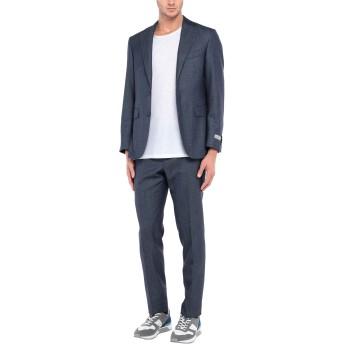 《セール開催中》CANALI メンズ スーツ ブルーグレー 50 ウール 71% / シルク 15% / 麻 14%