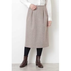 HUMAN WOMAN 強圧縮天竺スカート ひざ丈スカート,ベージュ