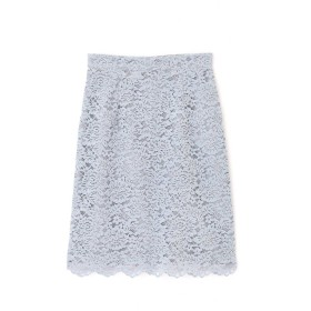 【公式/プロポーションボディドレッシング】モールレースタイトスカート/女性/スカート/サックスブルー/サイズ:2/(外側)ポリエステル 60% ナイロン 40%(内側)ポリエステル 100%