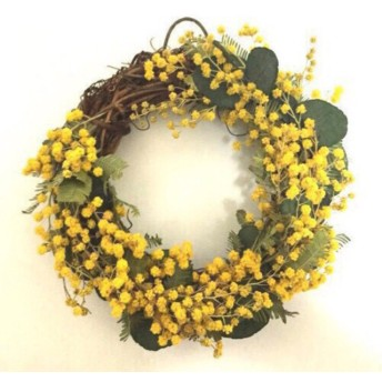mimosa mini wreath (13cm)