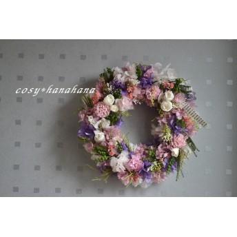 カーネーションとバラの花束wreath