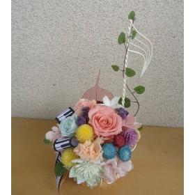 お花が奏でるハーモニー☆カラフルなお花が楽しい音符アレンジ