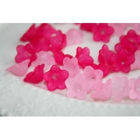 12mm 小さなお花ビーズ ピンク 30個