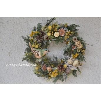 秋の森*小鳥wreath
