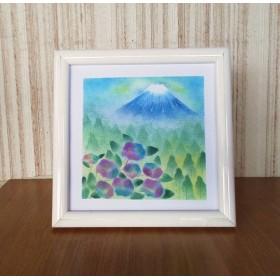 〇原画【富士山と山々】パステルアート