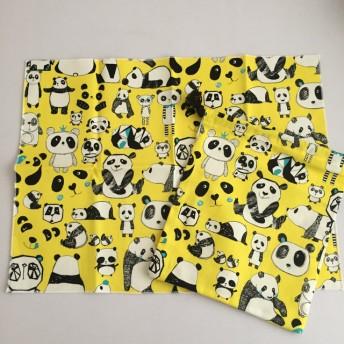 給食セット パンダ柄 黄色