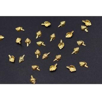 M3132 500個 ネイルパーツ メタルパーツ 貝殻 3.5×6mm ゴールド【約500ヶ】