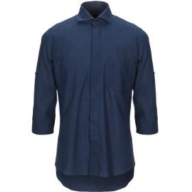 《期間限定セール開催中!》ZEUSEDERA メンズ シャツ ダークブルー L コットン 97% / ポリウレタン 3%