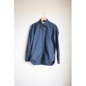 Men's 正統派 nostalgic dark blue shirt (no.126)