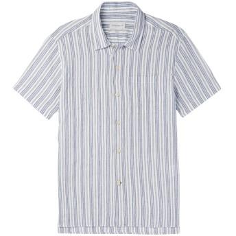 《セール開催中》OLIVER SPENCER メンズ シャツ ブルー 16 オーガニックコットン 58% / 麻 42%