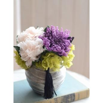 【手作りキット・お供えのプリザーブドフラワー】お悔やみ、お供えのお花、お仏壇に。お手入れ不要、生花の代わりに枯れないお花プリザーブドフラワーの手作りキット