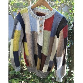 モザイク ◆縦長◇ 柄セーター <メンズ>