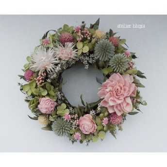atelier blugra八ヶ岳〜(定形外郵便発送)春色小花のMiniWreath02