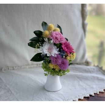 プリザーブドフラワーの仏花 カーネーション