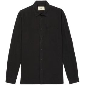 《期間限定セール開催中!》FOLK メンズ シャツ ブラック II 麻 60% / コットン 40%