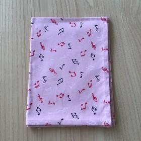 60 40cm ランチョンマット ピンク音符柄 小学校