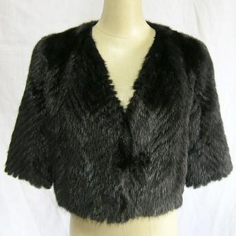 ¶ new antique fur ¶ ナチュラルブラックミンクファーボレロ