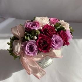 新春セール品【Classical Style】クラシカルスタイルのプリザーブドフラワー,薔薇いっぱい
