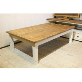 シャビーなこたつテーブルテーブル120 アンティークホワイト コタツ