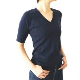 日本製オーガニックコットン 形にこだわった 大人のVネックTシャツ【サイズ・色展開有り】