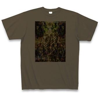 有効的異常症候群風雷◆アート文字◆ロゴ◆ヘビーウェイト◆半袖◆Tシャツ◆オリーブ◆各サイズ選択可