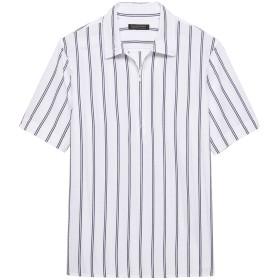 Banana Republic オーバーサイズ シアサッカー ハーフジップシャツ