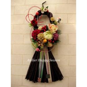 ◆送料無料◆和モダンしめ縄飾り